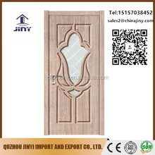 jiangshan pvc mdf glass door leaves design catalogue With Professional Technical Support