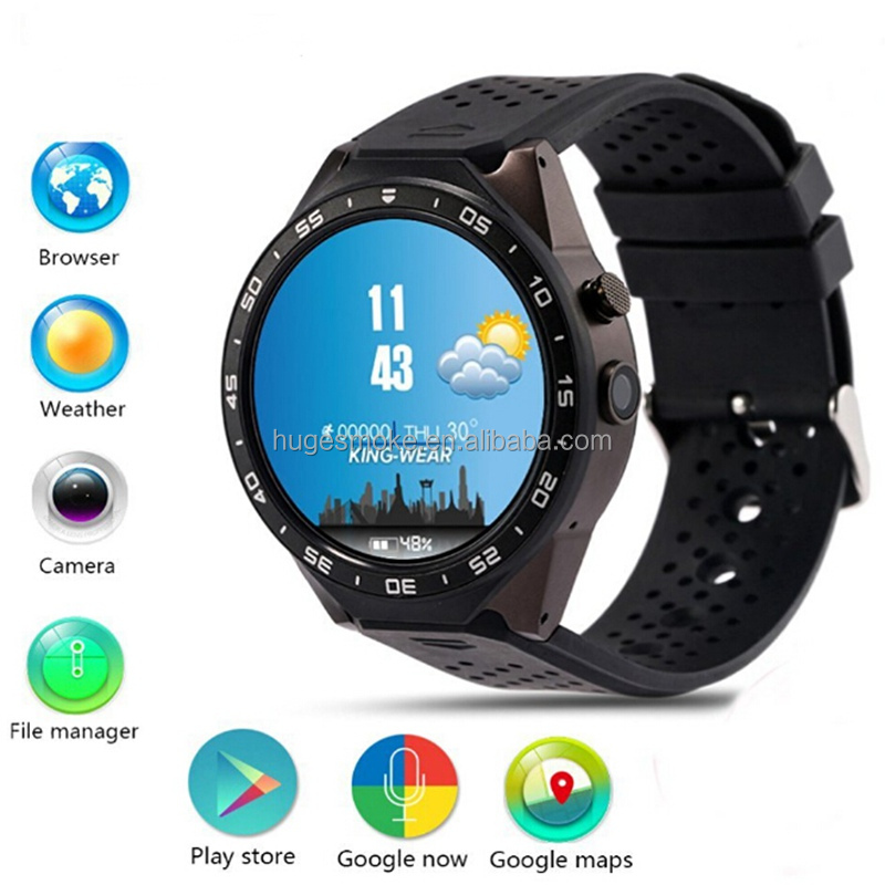 2016 Latest Luxury Classic watch phones Android Smart Watch KW88, able to Download and Install APP