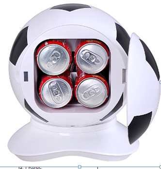 football shape mini fridge /mini bar fridge 3L 4cans