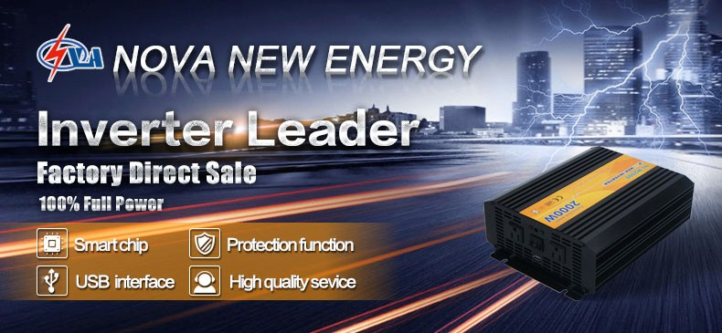 2000W off grid dc to ac modified sine wave power inverter