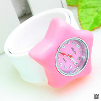 high quality silicone slap watch, fashion smart watch for students