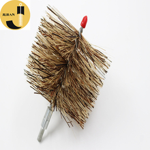 "Hot Selling High Quality Professional Long Handle Round Nylon Bristle 6"" Black Chimney Boiler Tube Pipe Cleaning Brush"