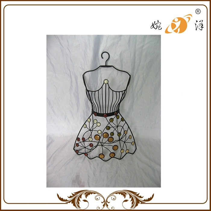 Manufacture Good Quality Women Dress 9cm Metal Rack Display
