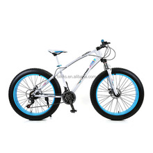 Top Quality High Carbon Steel Frame 26 Inch Fat Bicycle Moutain Bike 21 Speed Disc Brake Aluminum Alloy Rim Snow Bike