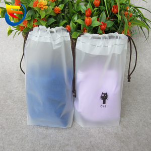 Beam pocket EVA frosted towel bag receive arrange render pants clothing underwear plastic rope bag