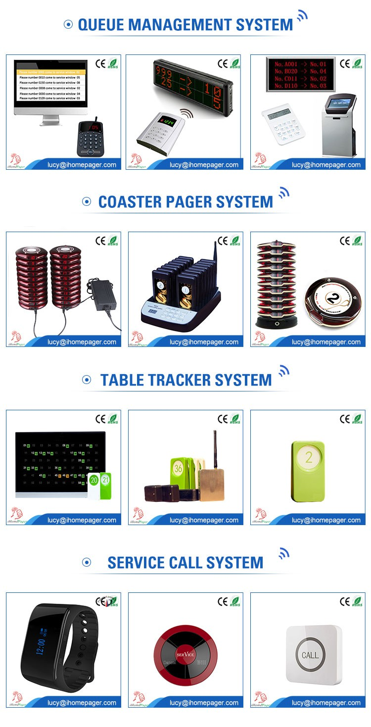 High-quality order equipment wireless waiter calling system with menu holder