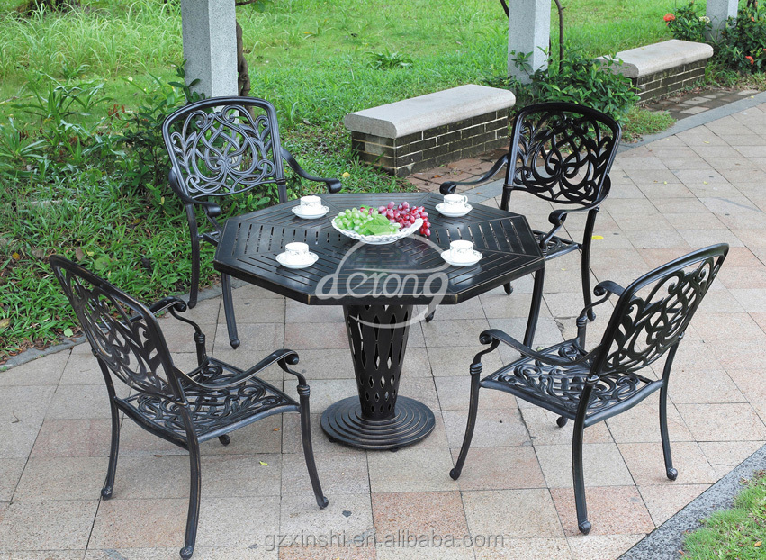 European powder coating cast aluminum outdoor garden metal for Outdoor furniture europe