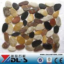 Decorative Pebble Mixed Color River Stone Pebble Mosaic