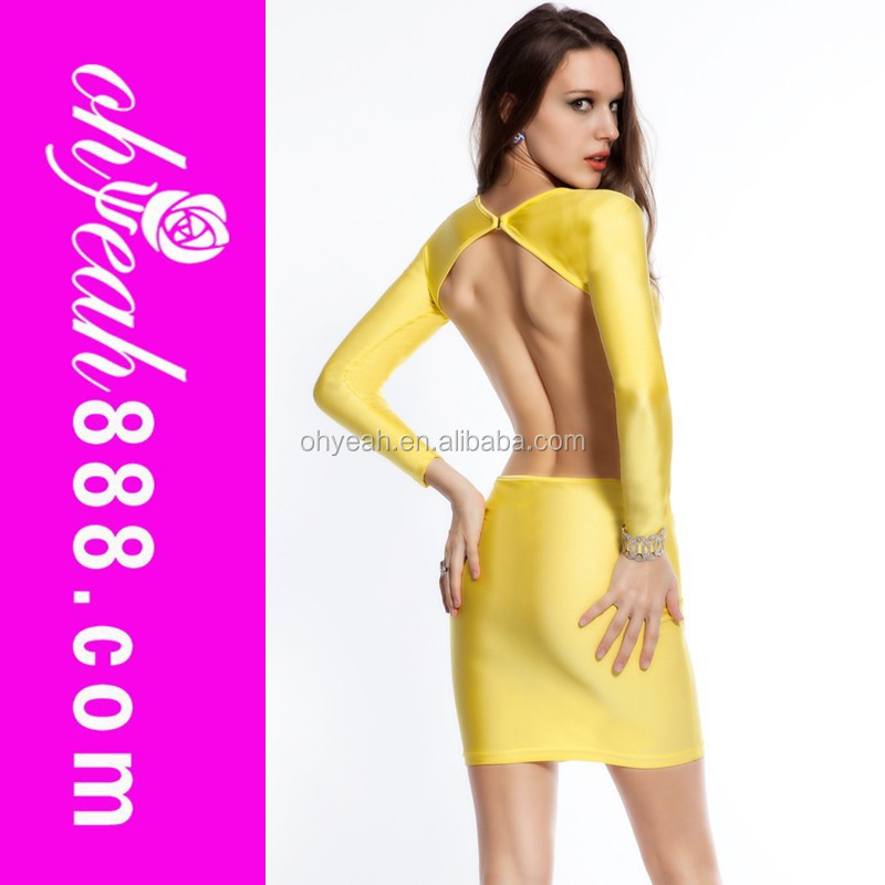 Cheapest excellent quality open back sex photo dress