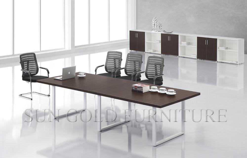 직사각형 나무 회의 테이블 멜라민 회의실 테이블 현대적인 ...