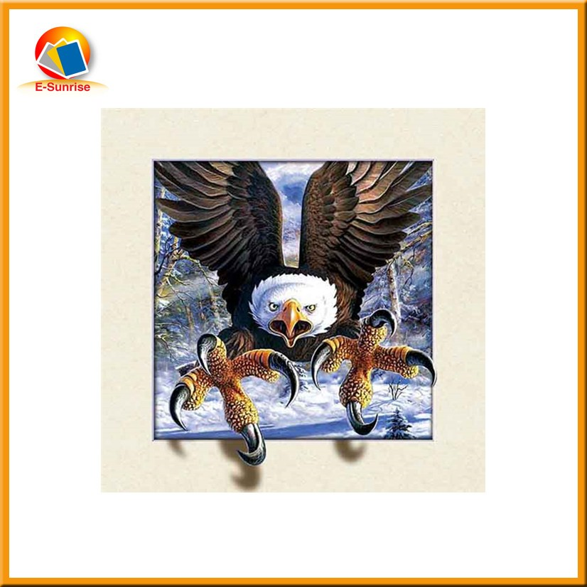 40x40cm 5D lenticular picture 5d poster with eagle picture