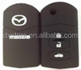 Factory sale Mazda 3 button flip key case for silicone car key cover