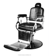 Style Salon Chair Black Swivel Armrest Vintage Base Barber Chair H B029