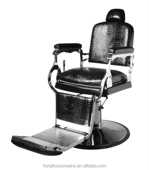 Style Salon Chair Black Swivel Armrest Vintage Base Barber chair H-B029
