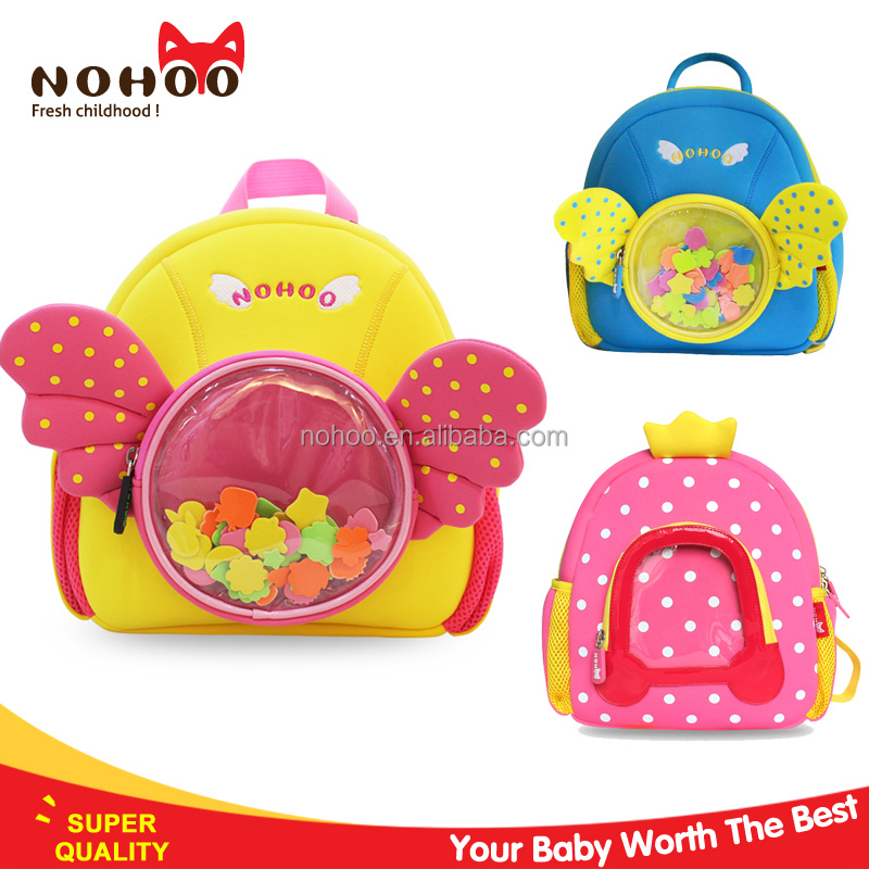 China supplier 2016 beautiful kids school backpack cartoon picture of school bags for girls
