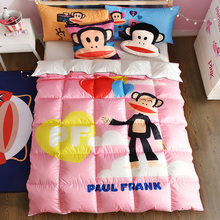 PAUL FRANK Printing 100% Filling 50% White Duck Down Duvet Design Edredon Comforter Wholesale 150*200cm 200*230cm or Custom Size