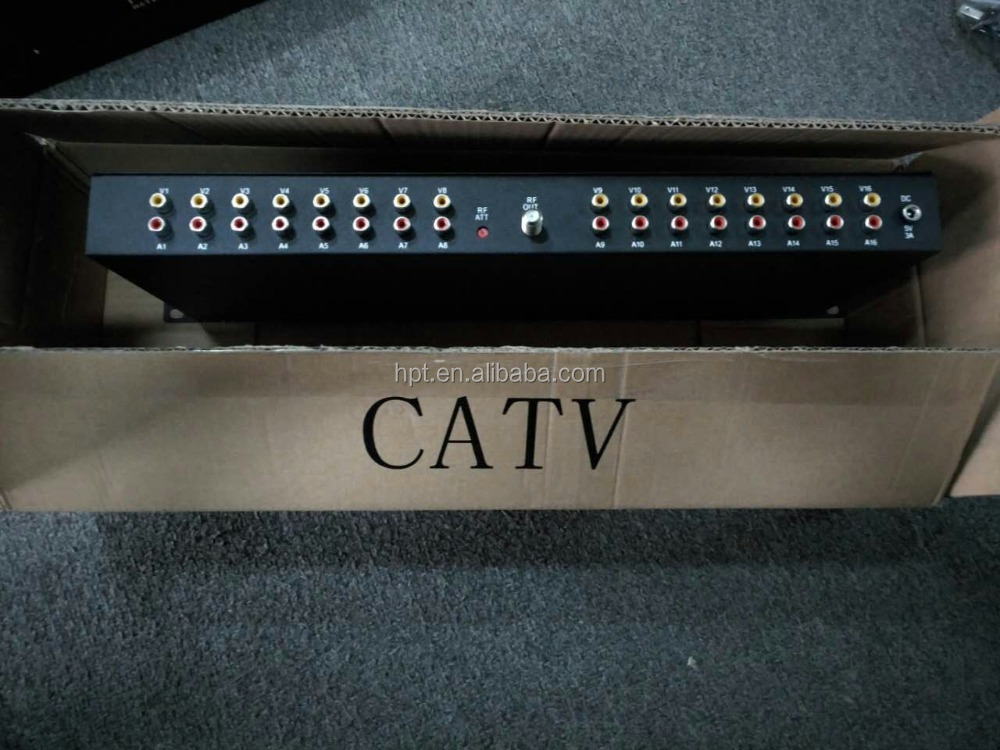CATV adjacent frequency fixed Saw Filter Modulator 16 in 1 for hotel TV System 32 channels