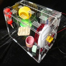 Custom 1 tier 2 tier 3 tier large clear acrylic pet box plexiglass hamster house