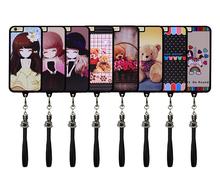 High Quality Cute Cartoon Design TPU Cell Phone Case with neck strap for iPhone6