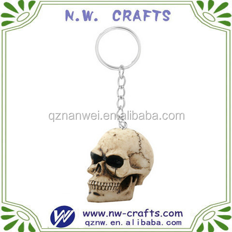 Custom skull head personalized key chains