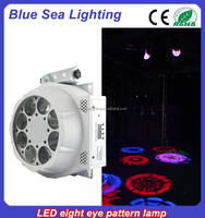Newest cheap 8x3w rotating effect stage led new gobo disco light