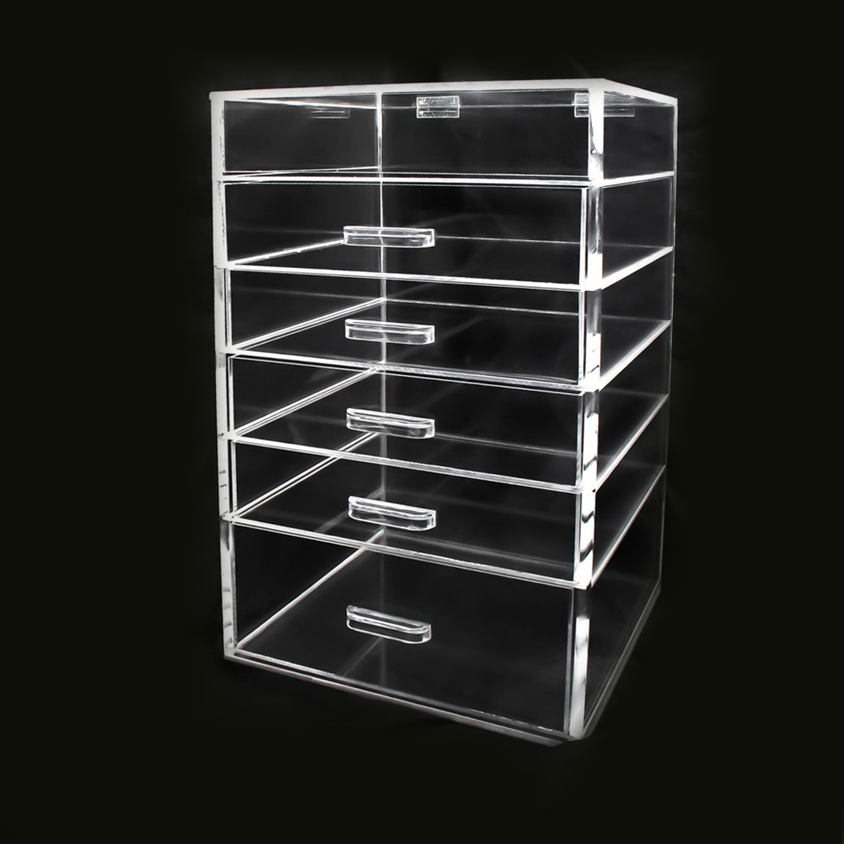 glass cabinet display clear plastic display stand