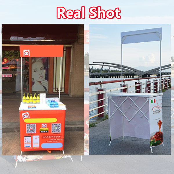 exhibition table portable folding advertising stand push table promotion table display stand
