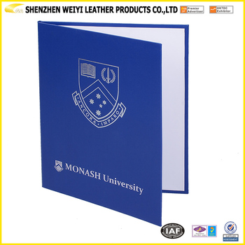 High School Leatherett A4 Certificate Holder Diploma Cover