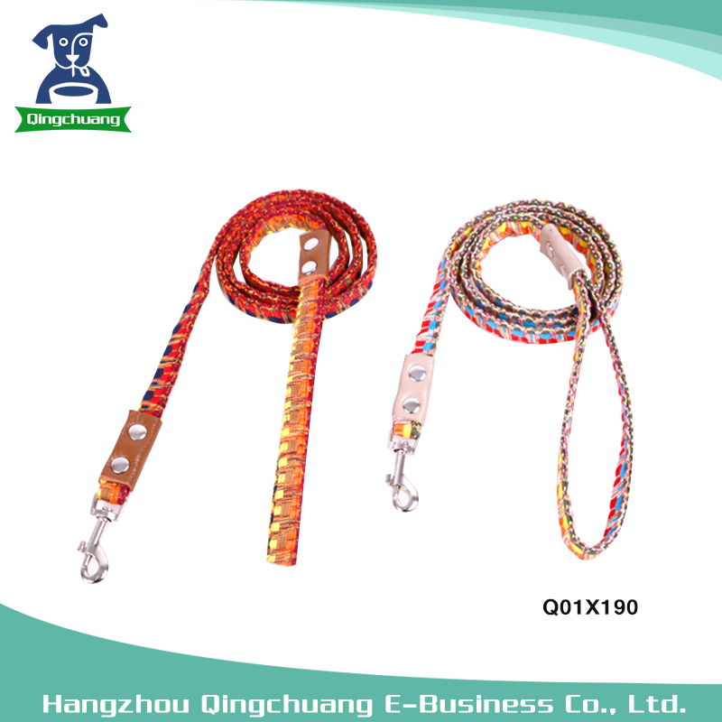 Polyester Colorful National Style Dog Rope Dog Lead