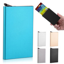High Quality Men's Women's Aluminum Auto Slim ID Credit Card RFID Protector Holder Purse Wallet