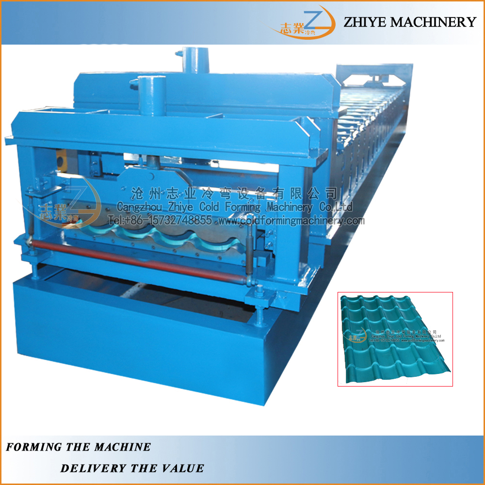 European profile colored steel interlocking step roofing sheets making machine