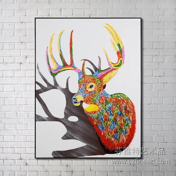 2014 newest design deer painting physical picture