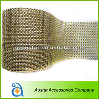 Fashion widely use RHINESTONE Effect MESH Diamante Style Ribbon Wrap Crafting wedding