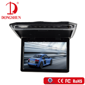 Ultra Thin 15.6 Inch USB/SD/HDMI Overhead Bus Lcd roof mount monitor