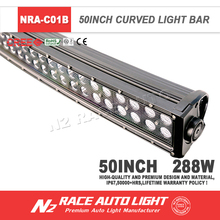 High Quality Guangzhou N2 Double Row Offroad 288W 50 Inch Programmable Led Light Bar With Black Face