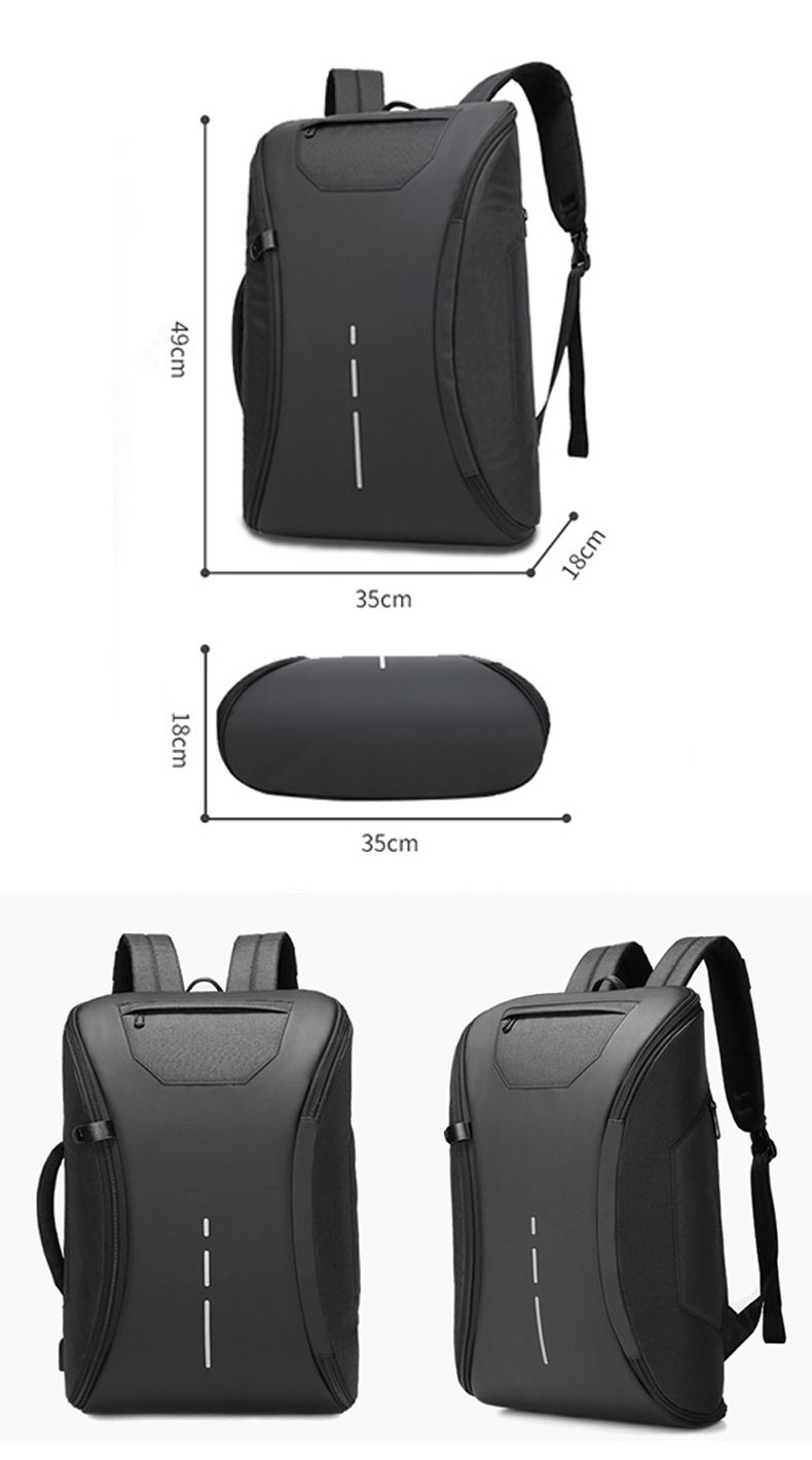 Water-resistant fashion anti thief stylish design men smart leisure USB charging laptop computer back pack bag backpack bagpack