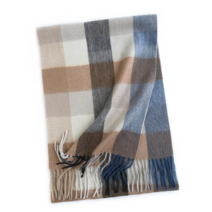 2019 New Men Scarf Tartan Checked 100% Pashmina Fashion Indian Winter Cashmere Men's Scarf for Men