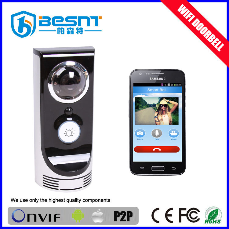 New technology Android and IOS smart phone motion detection wireless WIFI Door Bell cameravideo door phone BS-M06W