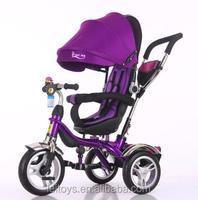 Factory direct 4 in 1 EVA wheel kids tricycle with roraty seat for preferential price