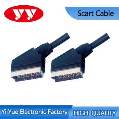 Plastic 3.5mm braided video/audio cable del scart del vga cable with high quality