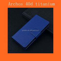 2015 Lastest Green Leather Case Archos 40d Titanium Case