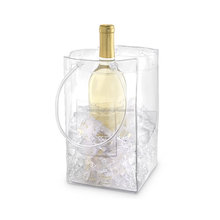 Eco Plastic Wine Chiller and Ice Bucket , Ice Bag Carrier with Handles