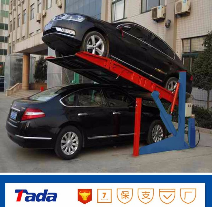 Chinese newest type car parklift, 2 level parking lift, hydraulic parkbox by hydraulics