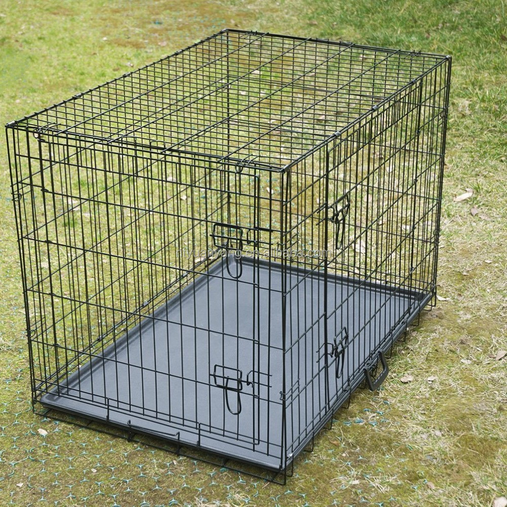 popular folding wire mesh dog crate pet house China manufacturer