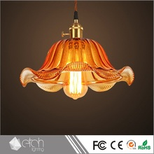 Custom Made European Loft Style Vintage Ceiling Hanging Lamp Clear Glass Pendant Led Light