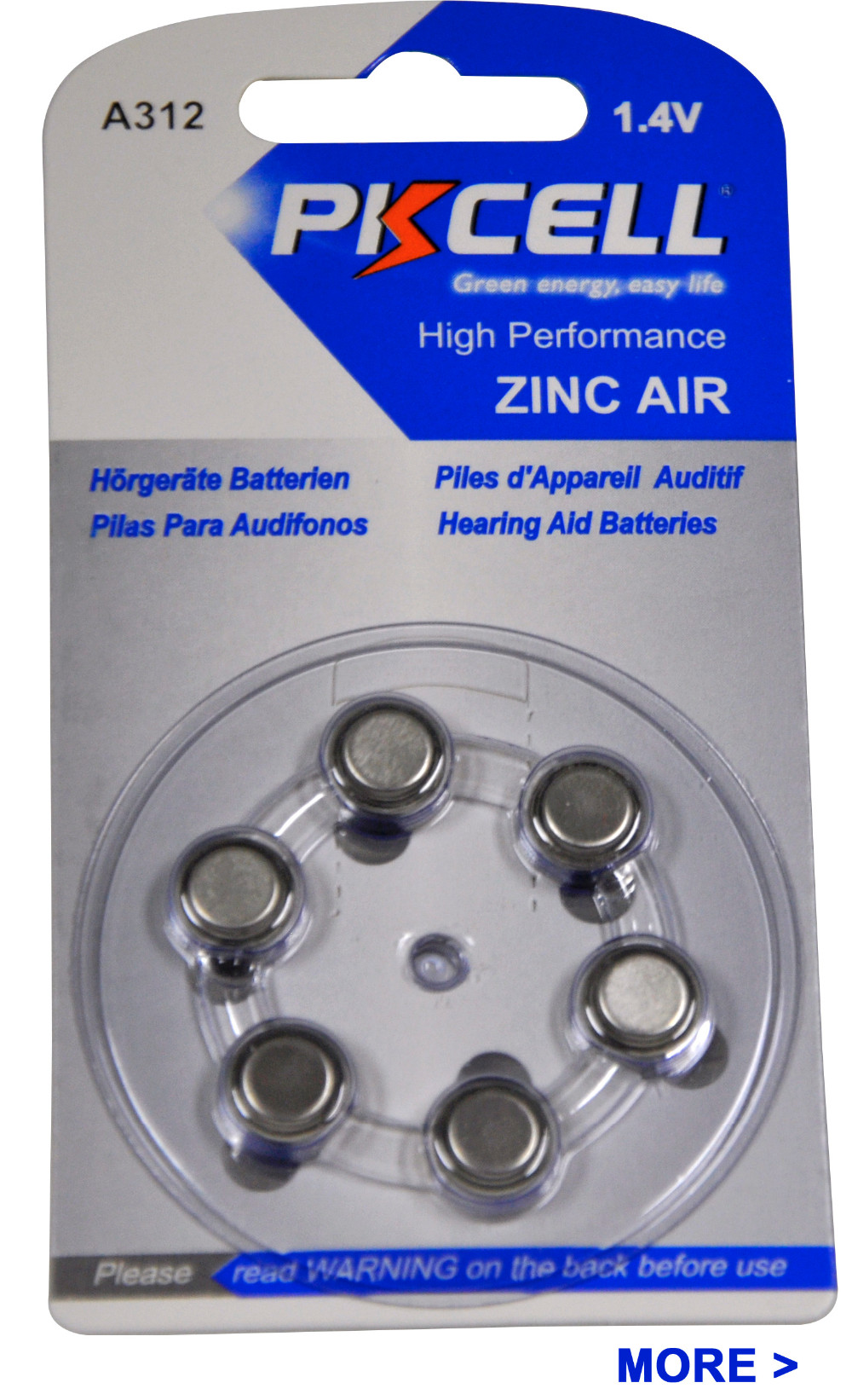 Best hearing aid battery A675/PR44 zinc air battery