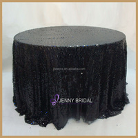SQN05B Factory Direct Sale Black Sequin Tablecloth