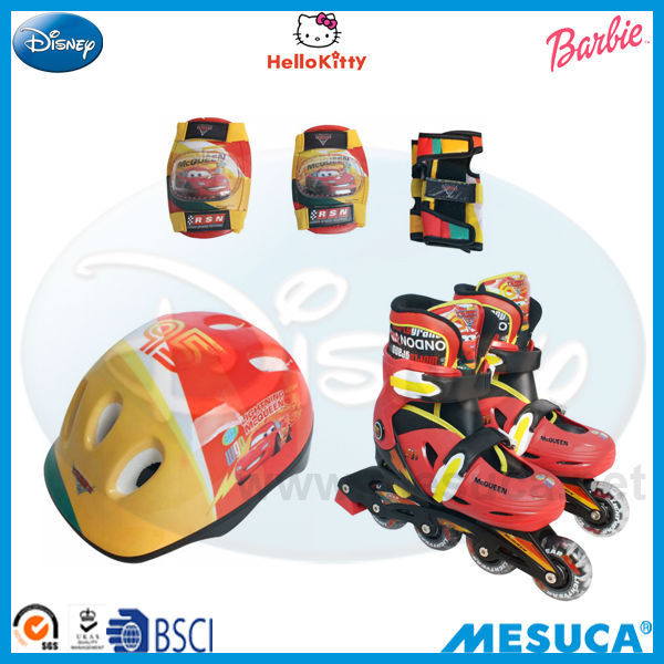 Disney Cars Image Kids Leisure ADJUSTABLE INLINE SKATE COMBO SET DCY11063-F