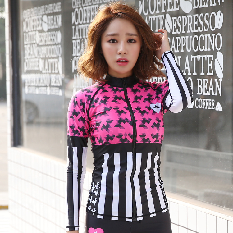 Printed Beach wear surfing Fashion rush guard Suit for swim&fitness&out door sport&dance dry quickly long sleeve rush guard