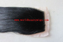 light yaki human hair lace closure/top closure